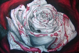 bleeding_rose_by_michae_humphreys-d3hv7qh