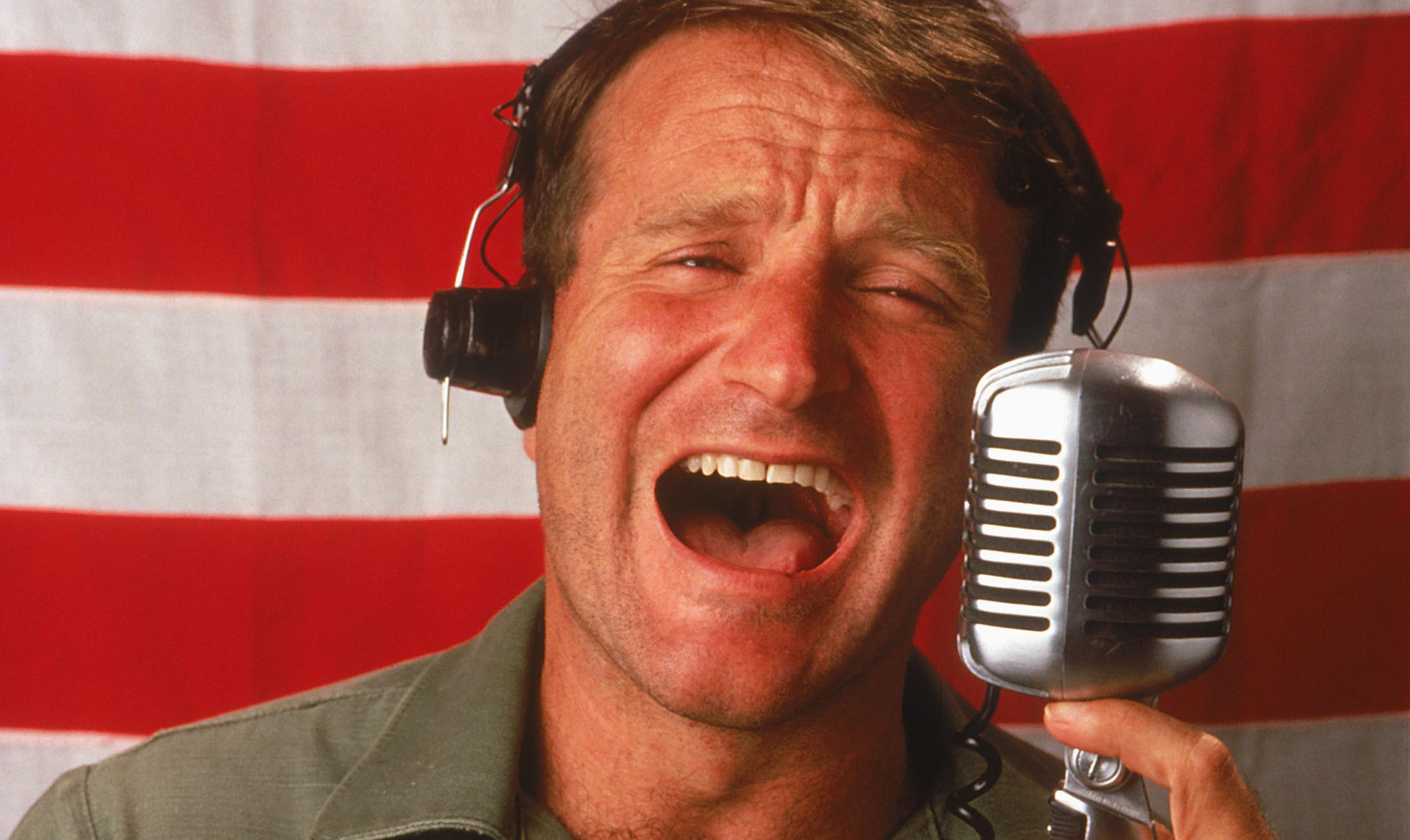 Robin Williams' star-making turn in Good Morning, Vietnam (1987)