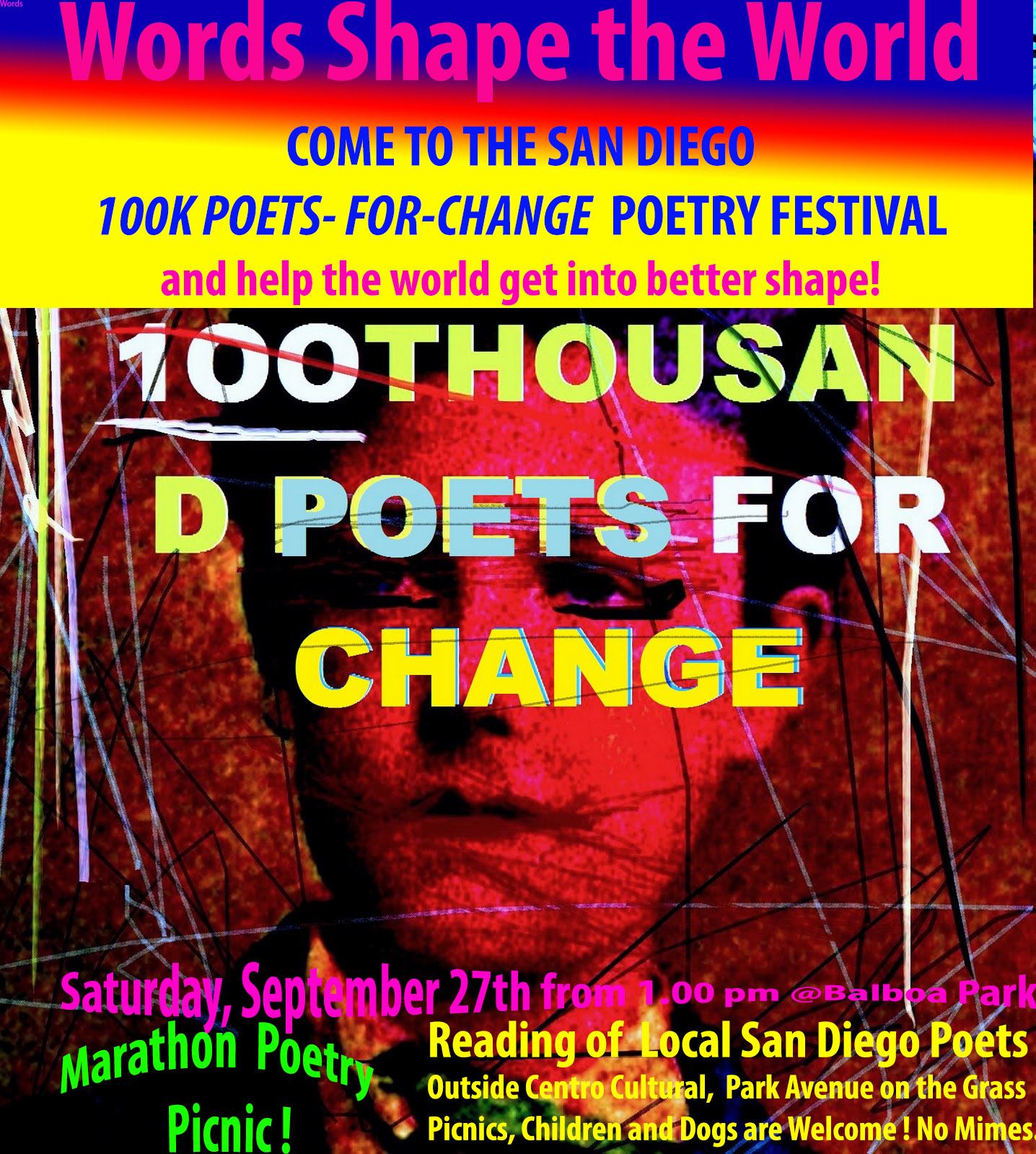 *Poster for Marathon Rimbaud-100-THOUSAND-POETS-4-CHANGE-by-Henrik-Aeshna