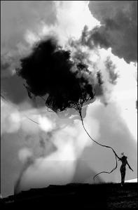 Man pulls cloud