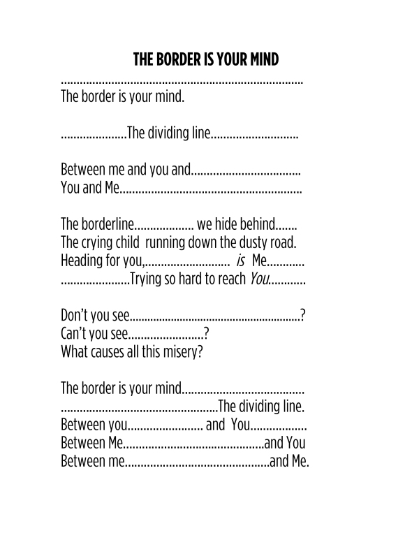 Microsoft Word - New Poem-THE BORDER IS YOUR MIND.docx