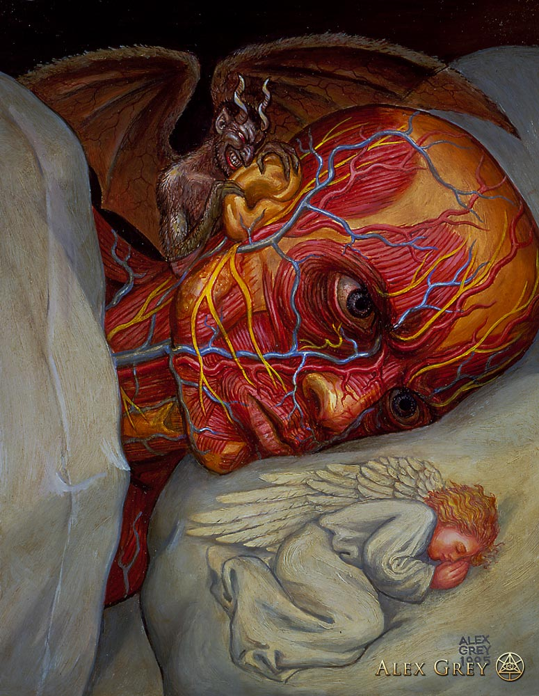 © Alex Grey: Insomniac Awareness by Igor Goldkind